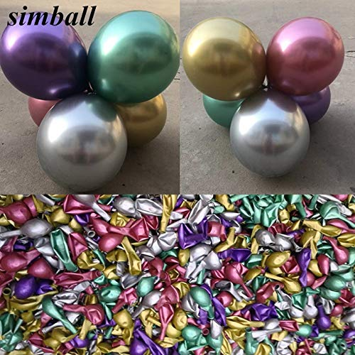 Tyro Großhandel 100 Stück 30,5 cm Chrom Gold Luftballon blinkend Metall Ballon Dicker Latex-Luftballons Hochzeit Dekoration Metallic Ballons (Blinkende Großhandel Spielzeug)