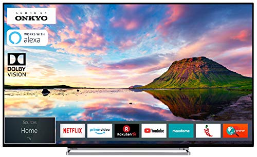 Toshiba 55V6863DA 140 cm (55 Zoll) Fernseher (4K Ultra HD, HDR Dolby Vision, Smart TV, Prime Video, Works with Alexa, Sound by Onkyo, Triple-Tuner) 55