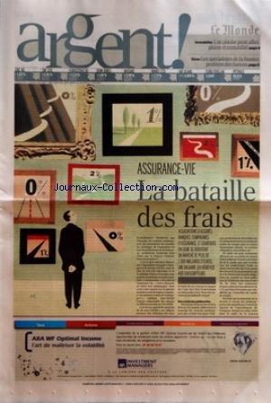MONDE ARGENT ! (LE) [No 19395] du 03/06/2007 - IMMOBILIER - UNE PISCINE POUR ALLIER PLAISIR ET RENTABILITE SICAV - LES SPECIALISTES DE LA FINANCE PROFITENT DES FUSIONS ASSURANCE-VIE - LA BATAILLE DES FRAIS. par Collectif