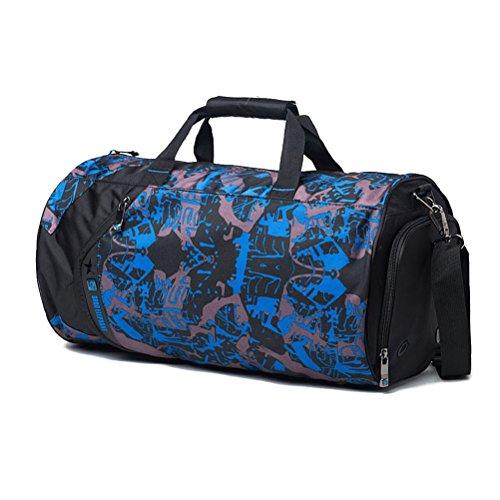 Imagen de aosbos  deportiva para gimnasio bolsa bandolera de viaje 18l dibujo azul