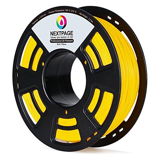 Nextpage 3D PLA Filament 1.75mm 1 KG für 3D Drucker Gelb