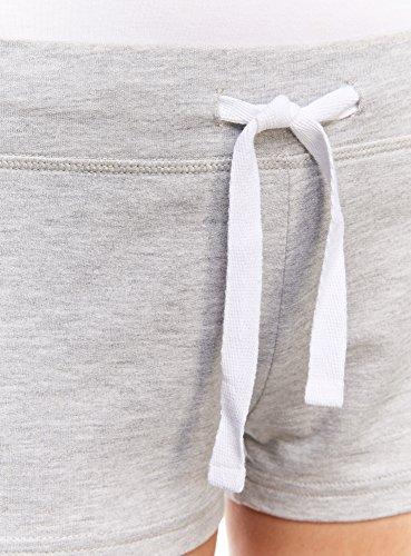 oodji Ultra Femme Short Basique en Maille Gris (2000M)