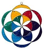 'Attrape-soleil 'graines de la vie en fibre de verre multicolore 20cm