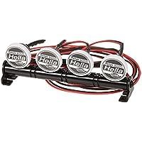Goolsky RC Car Round LED Light & Cover para 1/10 RC Crawler Axial SCX10 90046 D90 Traxxas TRX-4 Tamiya HSP RC Piezas de coches