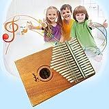 fghdfdhfdgjhh Holz Farbe 17 Tasten Kalimba Daumen Klavier Akazie Holzinstrument Traditionelle afrikanische Musikinstrumente mit 17 Ton
