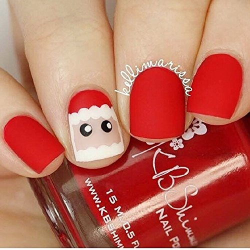 Mimei Faux ongles Mat Rouge ...