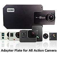 Placa de montaje con adaptador e interruptor para X-CAM para DJI OSMO Gimbal Zhiyun, para sujetar con la mano, accesorio Gimbal para teléfono móvil, con abrazadera e metal, con clip, para cámara GoPro Hero 6/5/4/3Xiaoyi