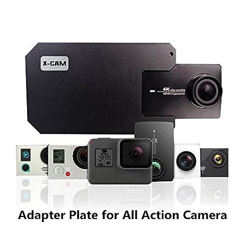 X-CAM Adapter Schalterhalter für DJI OSMO Mobile Gimbal Zhiyun Smooth Handheld Smartphone Gimbal Zubehör Metall Clamp Clip für GoPro Hero 5/4/3 xiaoyi sj4000