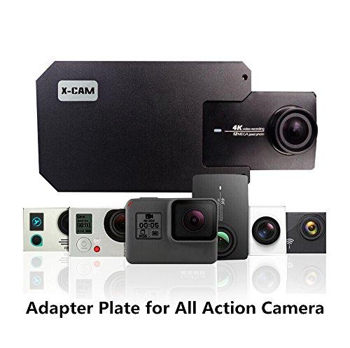 x-cam Adapter Schalter Mount Platte für DJI Osmo Mobile Gimbal zhiyun Glatte PDA Smartphone Gimbal Zubehör Metall Klammer Clip für GoPro Hero 5/4/3xiaoyi SJ4000Kamera