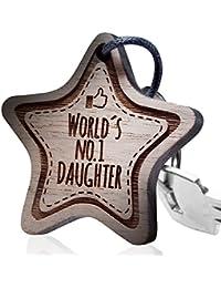 Schlüsselanhänger mit Gravur: World´s No.1 Daughter