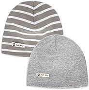 LACOFIA 2 Piezas Gorro Beanie para bebé Sombreros de Punto Calientes para bebés niñas y niños Gorra de algodón