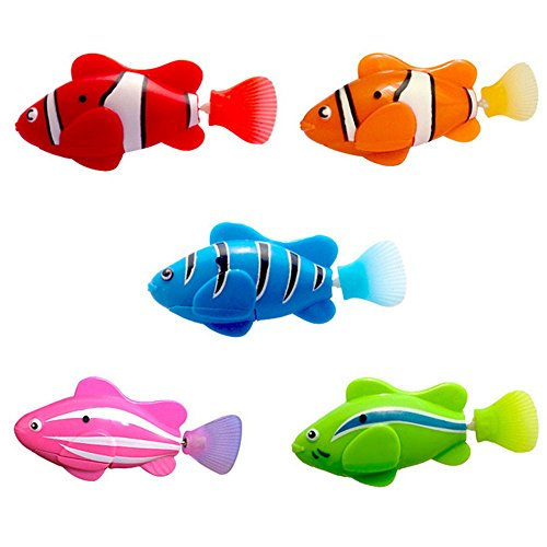 The Best Lighting Electric Fish Fishing Toys Swimming Glow Electronic Pet Fish Swing Fish Swimming Toys Moderate Price Bath Toy