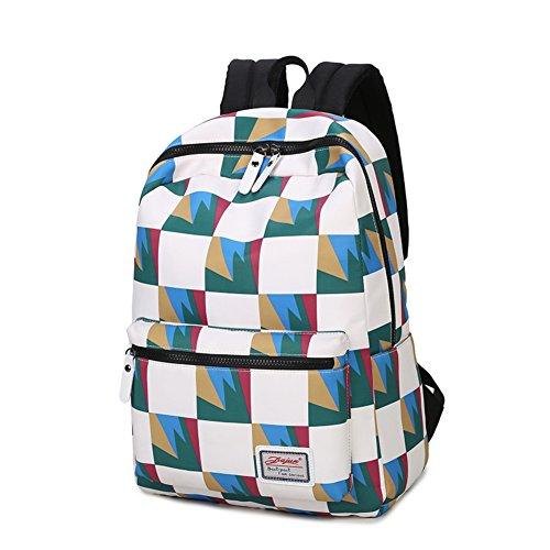 le donne borsa a tracolla in tela/Onda coreana high school student zaino/colpita il sacchetto di colore/Borsa porta computer-B A