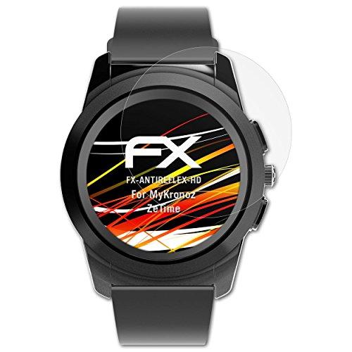 atFoliX Schutzfolie kompatibel mit MyKronoz ZeTime Bildschirmschutzfolie, HD-Entspiegelung FX Folie (3X)