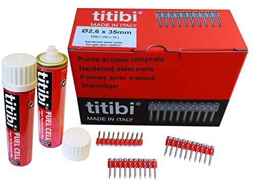 1000 X TITIBI clous de haute qualité + 2 X bouteille de gaz pour...