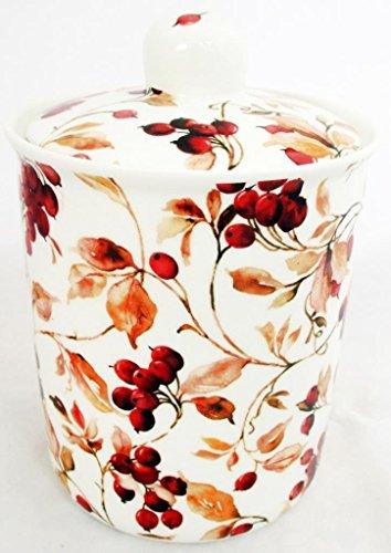 Bocal de rangement Boîte à baies en porcelaine fine décorée à la main au Royaume-Uni Livraison gratuite au Royaume-Uni