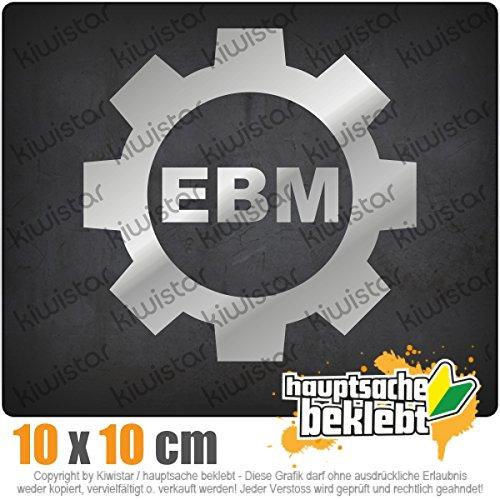 Ebm Zahnrad 11 x 11 cm IN 15 FARBEN - Neon + Chrom! Sticker Aufkleber