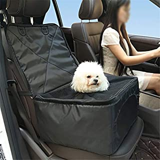 ANFTOP Pet Car Booster Seat Breathable Pet Dog Cat Car Front Seat Mat Booster Seat Travel Car Carrier Bag for Small Dogs Puppies Travelling