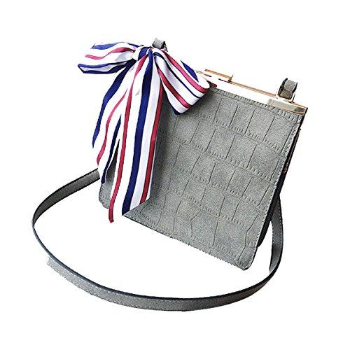 Donna Vintage Cuoio Tote Borsa A Tracolla Crossbody Borsa A Tracolla Grey