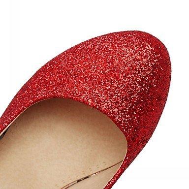 WIKAI Donna Comfort tacchi Novità primavera sintetico caduta outdoor casual vestito comfort a piedi Novità fibbia Polka Dot Stiletto HeelRuby Ruby
