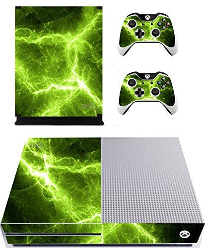 The Grafix studio Green Electric Sticker/Skin Xbox One S Konsole und Fernbedienung Controller Aufkleber, xbs14