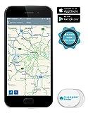 musegear® Schlüsselfinder Mini mit Bluetooth App I Keyfinder laut für Handy in weiß I GPS Ortung/Kopplung I Schlüssel Finden