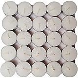 DECORGRAM Tea Light White Candle- Set Of 50) (50)