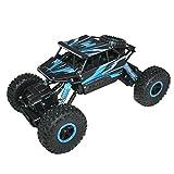 #1: Adraxx 1:18 Scale Remote Control Mini Rock Through Car, Blue
