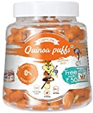 #8: Chipmonk Quinoa Puffs Traditional Spices, Pet Jar 90gm + Free Chipmonk Quinoa Puffs 35gm Pack( Roasted French Cheese), Veg, Gluten free(Masala, tomato, cheese), Healthy snacks, Protien, fiber rich (Traditional Spices)