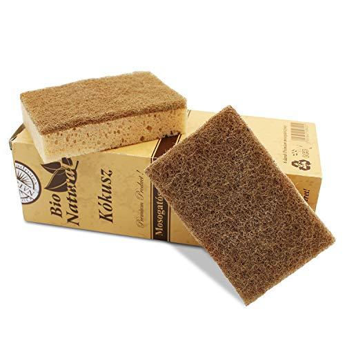 Kokosschwamm SET 6 Stück - Spülschwamm - Hervorragende Reinigungseigenschaften - Nachhaltiger Putzschwamm/Küchenschwamm -
