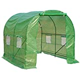 Outsunny Polytunnel Walk-In Greenhouse Poly Tunnel Green House Galvanized Rust Steel Frame New Style 2.5m x 2m x 2m