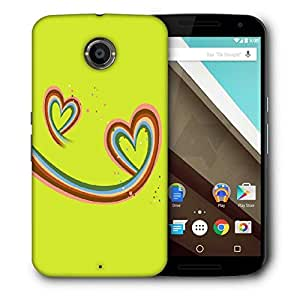 Snoogg Abstract Valentine Hearts Printed Protective Phone Back Case Cover For LG Google Nexus 6