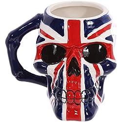 PUCKATOR nbsp;–Diseño bandera británica cerámica - Color azul, blanco y rojo