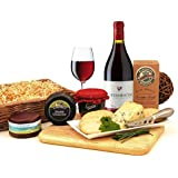 Cheese Hampers with Biscuits Wine Cheese and Pate (SGS-013) Gifts in Wicker Basket Great Selection of Cheeses - All Fresh Food with Cheese Hampers are Despatched Same Day Wicker Basket and Printed Ribbon are Included with this Cheese Gift
