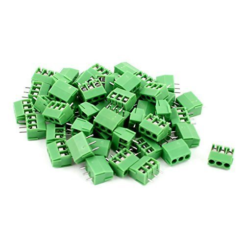 50 pezzi 3 33 posizione 3,5 mm passo PCB vite terminale del connettore di blocco