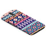 Casography Aztec Designer Printed Ultra Slim Light Weight Back Case Cover For Samsung Galaxy J7 Pro (Pink) - Pink / Blue / White - B1-D92