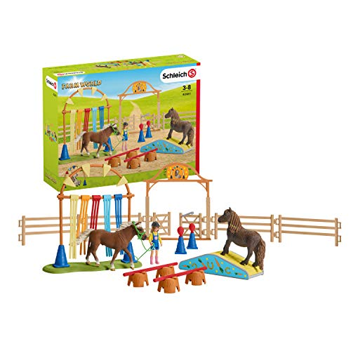 SCHLEICH 42481 - Pony Agility Training, Farm World