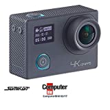 Somikon Aktioncam: 4K-Action-Cam für UHD-Videos, 2 Displays, WLAN, 16MP-Sony-Sensor IP68 (Action Kamera)