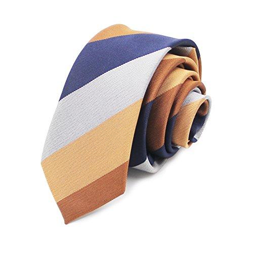 AGENT X Hombre Corbata estrecha angosta Slim Fit tie 6 CM Nuevo Moda Polišster Multicolores Rayas ATB017