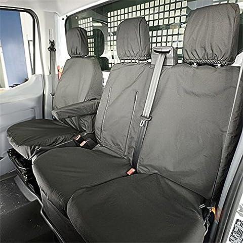 Juego de fundas impermeables para furgoneta Ford Transit 2014, asientos delanteros, color blanco