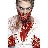 NET TOYS Zombie Kunstblut flüssig | 473 ml Inhalt | Hochwertige -Schminke Theaterblut für Blutsauger | Ideal für Halloween & Horror-Party