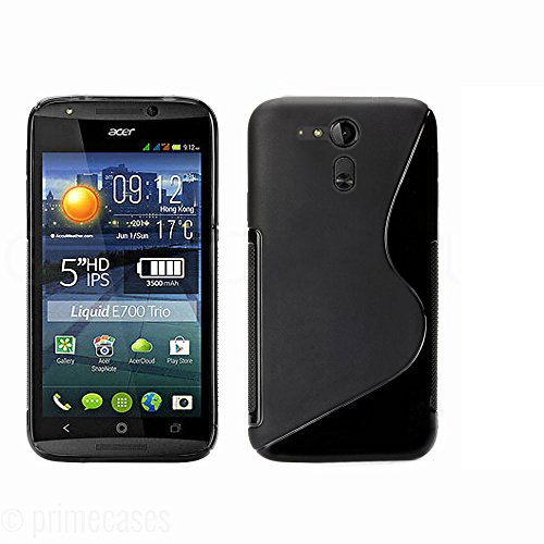 Ziaon(TM) Silicone S-Line Hybrid TPU Soft Gel Back Cover Case for Acer Liquid E700 with free screen guard  available at amazon for Rs.289