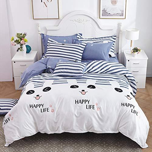 SOMESUN Babyzimmer Süß Kitten 3 Stück Bettwäsche Drucken Zuhause Hotel Schlafzimmer Tagesdecke Kissenbezüge Gemütlich Weich Atmungsaktiv Elastisch Bettdecke Bettwäsche Set