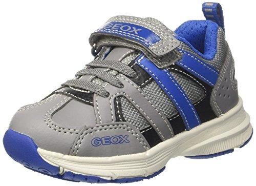 Geox Jungen J Top Fly Boy A Sneaker, Grau (Grey/Royal), 39 EU