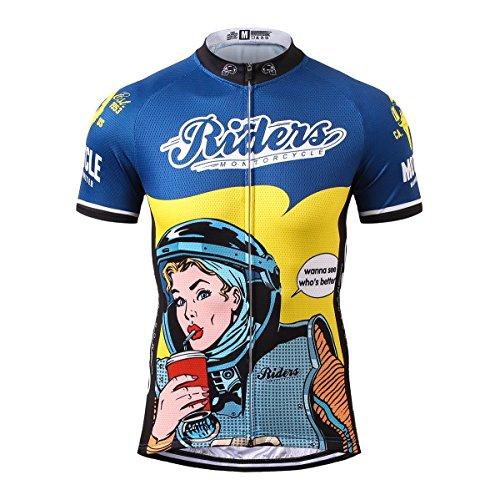 Thriller Rider Sports® Herren Montorcycle Riders Sport & Freizeit MTB Fahrradbekleidung Radtrikot 3X-Large