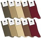 Burnell & Son 10 Paar PREMIUM Socken aus fein gewobener Baumwolle | Damen & Herren | Business | verschiedene Farben | bequemer Komfortbund, 39/42, Waldfarben