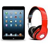 Pack iPad mini 16Go Wifi Noir avec casque Bluetooth Rouge