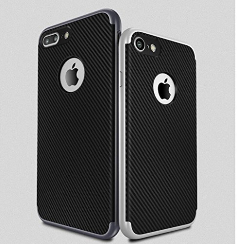 Vandot Diamant Strass Housse Coque Case Cover PC le Plastique Etui pour Apple Iphone 6 6S 4.7 Pouces Protection Coque Haute quality Fashion Design Hard Back Bing Couvrir Couverture - Argent Silver Black-Noir