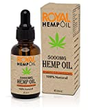 Organic Royal Hemp oil 5000MG 30ml High Strength Good for Pain and Anxiety Relief  Improves Sleep and Helps to Relax   GMO Free 100% Vegan   Peppermint Flavor