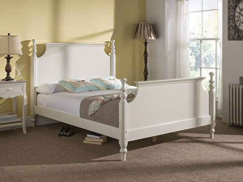 Snuggle Beds Melody 4FT6 Double Wooden Slatted Bed Frame White